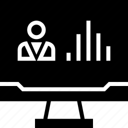 analytics, person, user, web icon