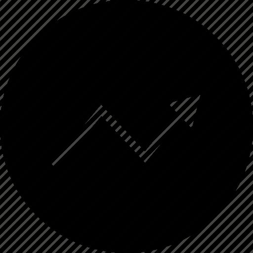 arrow, data, point, up icon