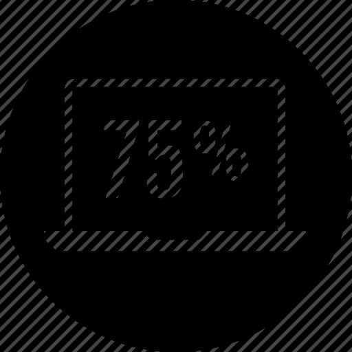 data, five, graphic, seventy icon