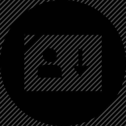 data, down, graphic icon
