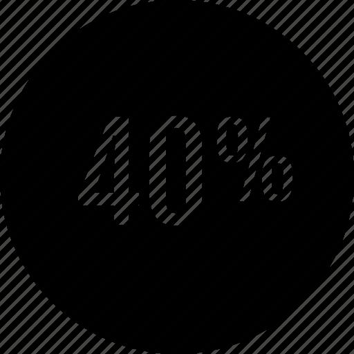 data, fourty, graphic icon