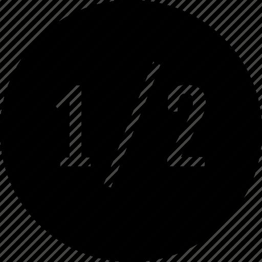 data, graphic, half, one icon