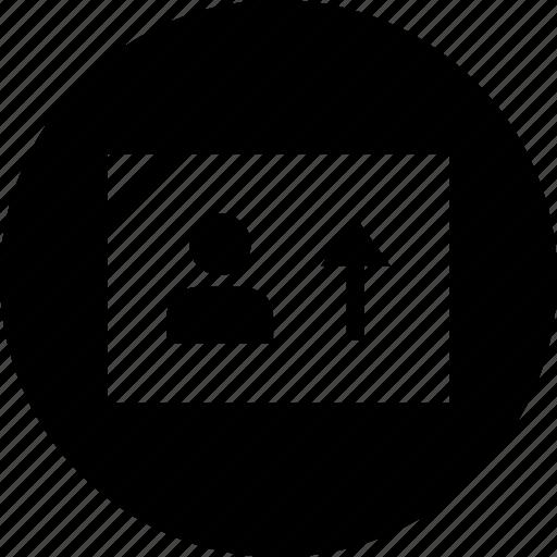 data, graphic, person icon