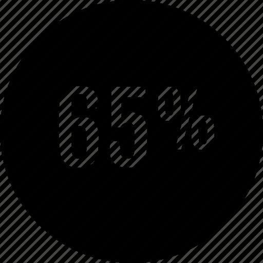 five, percent, sixty icon