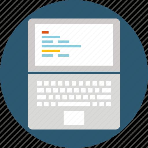 Code, coding, development, front end, laptop, program, programming icon - Download on Iconfinder