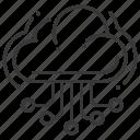 cloud, hosting, server, web icon