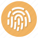 fingerprint, id, identity, user icon