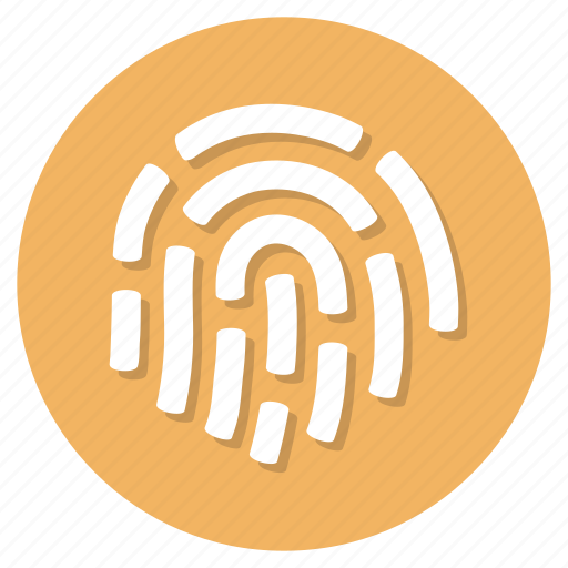 fingerprint, id, identity, user icon