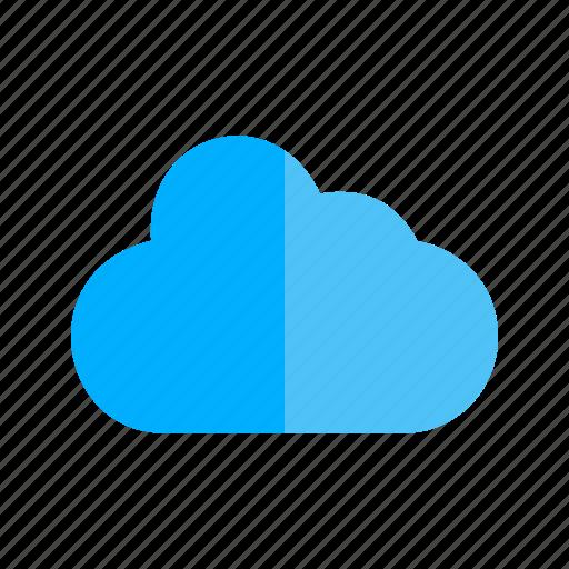 businessman, cloud, computer, computing, concept, technology icon