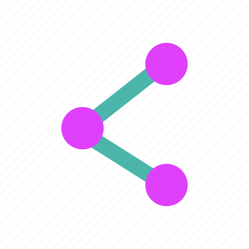 connected, connection, linked, network, nodes, share, technology icon