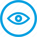 eye, eyeball, eyes, view icon