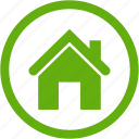 building, construction, estate, green, home, house icon