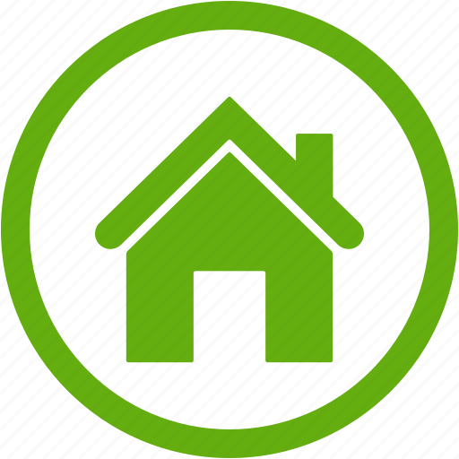 Building, construction, estate, green, home, house icon Green Home Icon Png