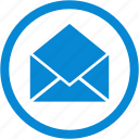 email, envelope, letter, mail, mail open, message icon