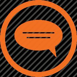 bubble, chat bubble, comment, message, sms icon
