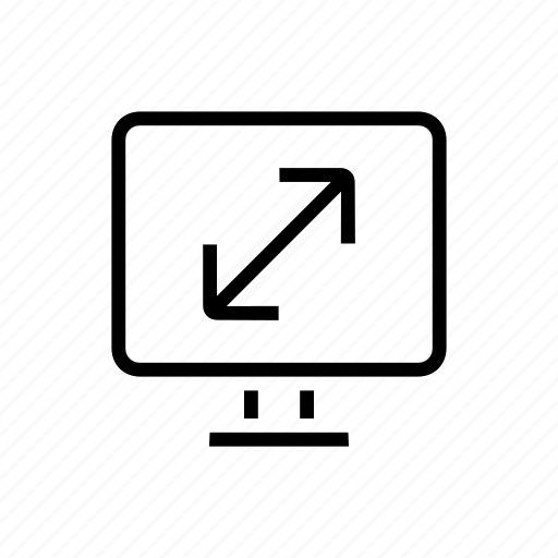 desktop, diagonal, office, scale, screen, size icon