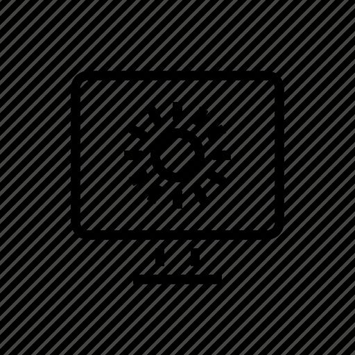 brightness, desktop, diagonal, light, office icon