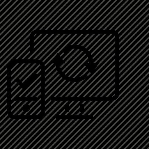 Bluetooth Desktop Link Office Pairing Phone Icon
