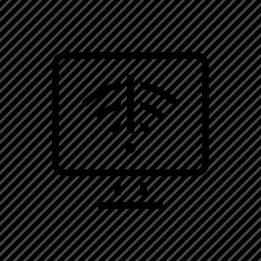 connection, desktop, internet, office, problem, wifi icon