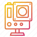 action, camera, device, gopro icon