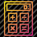 calculator, computer, device, hardware icon