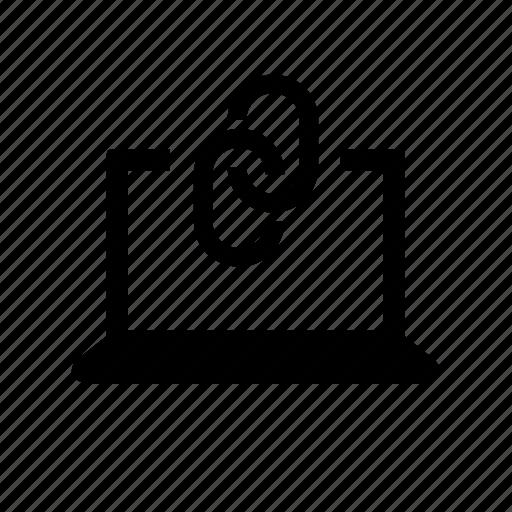 computer, device, internet, laptop, link, web icon