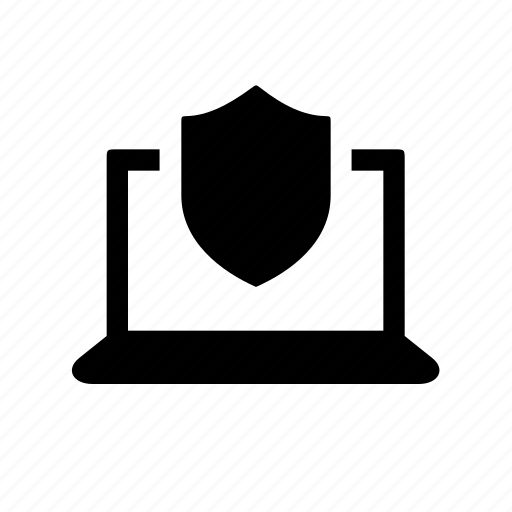 computer, device, laptop, protection, security icon