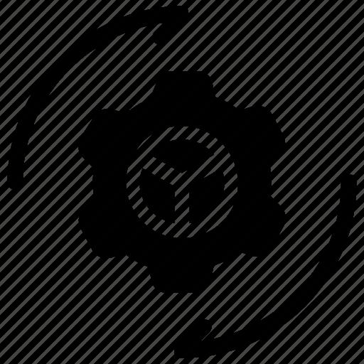 arrow, configuration, gear, options icon