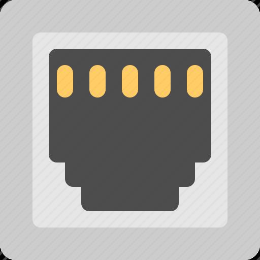 Connector, lan, port, socket icon - Download on Iconfinder