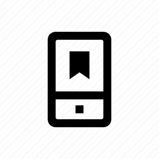bookmark, device, mobile, phone icon