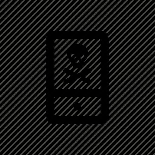 dead, device, mobile, phone icon