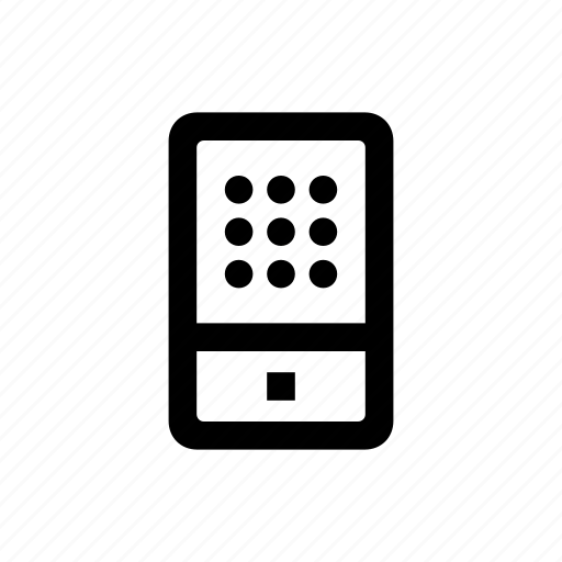 device, dial, mobile, phone icon