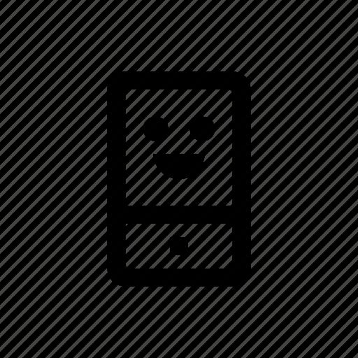 device, happy, mobile, phone icon