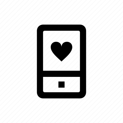 device, love, mobile, phone icon