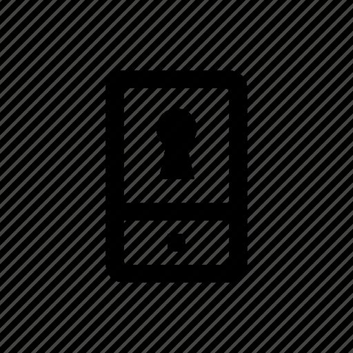 device, mobile, password, phone icon