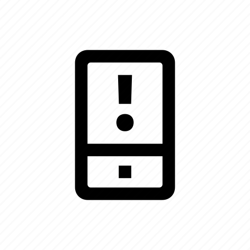 device, mobile, phone, problem icon
