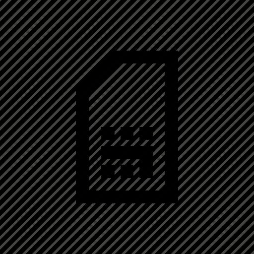 device, mobile, phone, sim icon