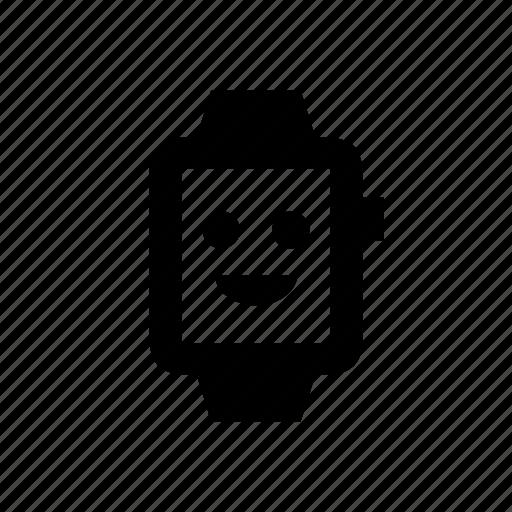 device, emoji, happy, watch icon