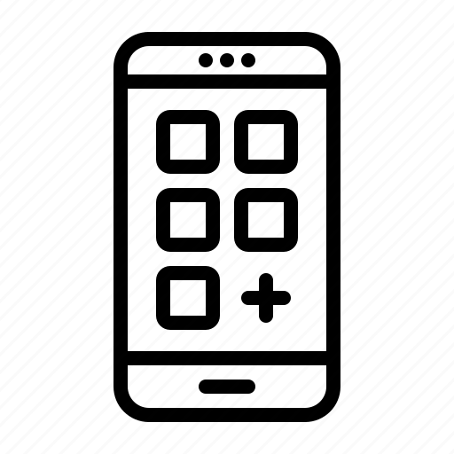 app, grid, install, mobile, new, phone, smartphone icon