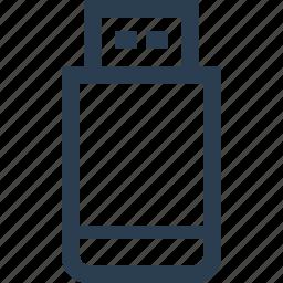 device, drive, flash, memory, stick, storage, usb icon