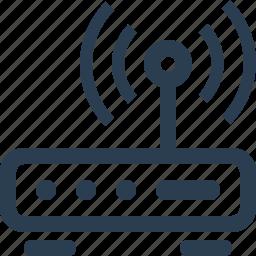 device, internet, modem, router, wifi, wireless icon