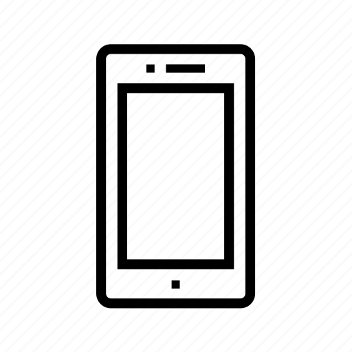 device, line, phone, rectangle, screen, smartphone, technology icon