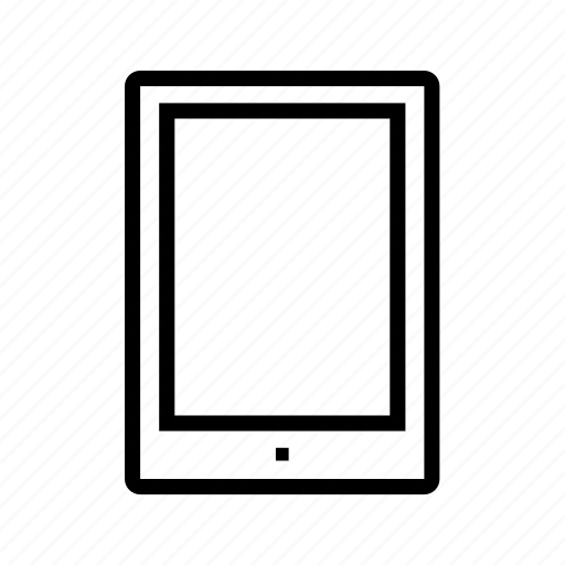 device, line, monitor, rectangle, screen, tablet, technology icon