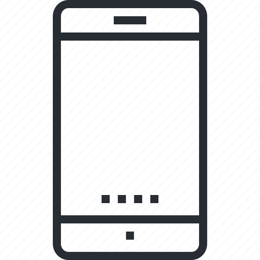 contact, devices, electronic, mobile, pixel icon, smartphone, thin line icon