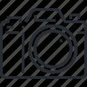 camera, devices, editor, gallery, photo, pixel icon, thin line icon