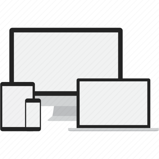 adaptive, connection, devices, displays, responsive icon