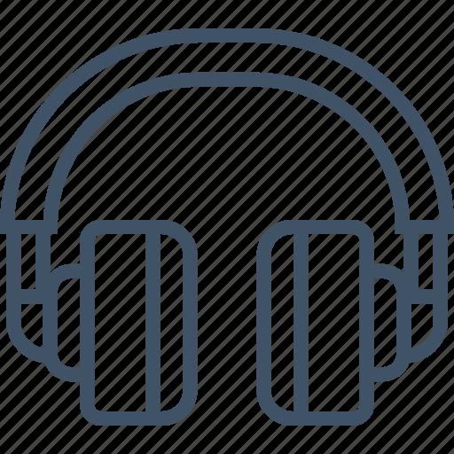 headphone, headset, listen, music, sound icon