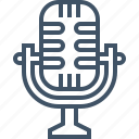 microphone, record, sing, sound, speak, talk, voice icon
