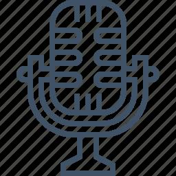 microphone, record, sing, sound, speak, talk, voice icon