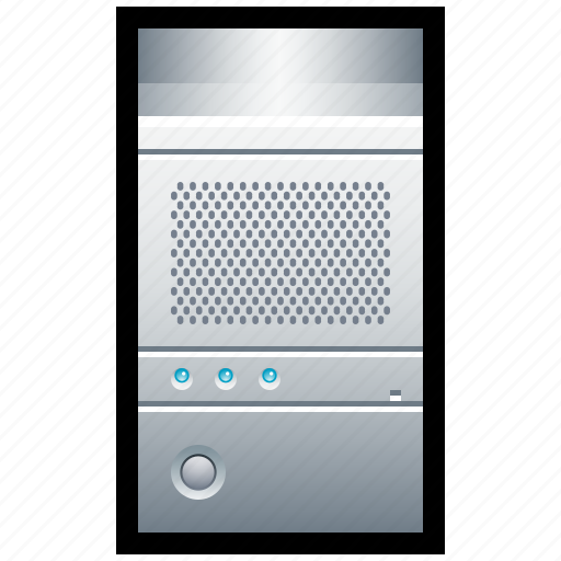 computer, cpu, pc, rack, rig, server, tower icon